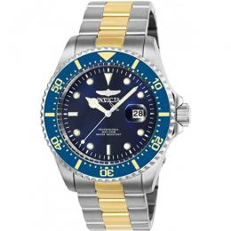 Invicta 25716 Men's Pro Diver Quartz 3 Hand Blue Dial Medium Size Watch