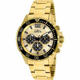 Invicta 25754 Men's Specialty Quartz Chronograph Gold Dial Watch
