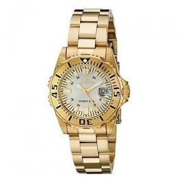 Invicta 2963 Women's Pro Diver Quartz 3 Hand Champagne Dial Watch