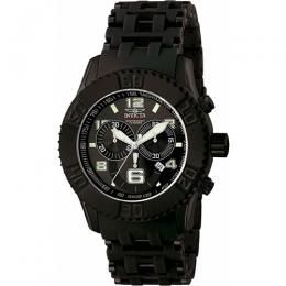 Invicta 6713 Men's Sea Spider Quartz Chronograph Black Dial Polyurethane Large Watch