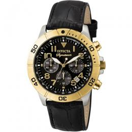 Invicta 7284 Men's Signature Quartz Chronograph Black Dial Watch