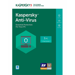 KASPERSKY ANTI-VIRUS 1+1(LATEST VERSION)