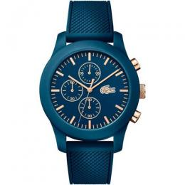 LACOSTE 2010827 MEN'S LACOSTE 12.12 CHRONOGRAPH BLUE SILICONE WATCH