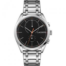 LACOSTE 2010918 MEN'S SAN DIEGO STAINLESS STEEL BLACK DIAL BRACELET WATCH