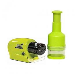 Lambano Fancy-Look Electric Knife Sharpener + Free Onion Vegetable Chopper
