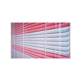 CLASSY ALUMINUIM WINDOW BLIND - PINK AND WHITE 072 ...mini (W3ft x L4ft) large (W7ft x L5ft) medium (W5ft x L5ft)