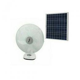 Lontor 16 Inch Rechargeable Table Fan With Solar Panel