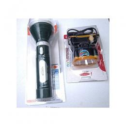 Lontor 5W Hi-Power Rechargeable LED Security Torch Flashlight+LED Rechargeable Headlight Torch