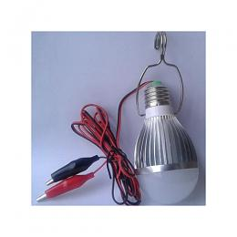 Lontor 6W LED DC Bulb With Alligator Clips For Solar System And Other DC Power System