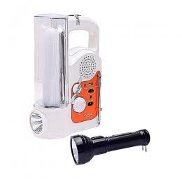 Lontor Rechargeable LED Lamp With Radio & USB Output