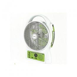 Lontor Rechargeable Table Fan 8 Inch Blade With Radio, USB & Light