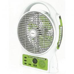 Lontor Rechargeable Table Fan With USB & Radio