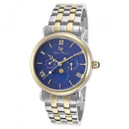 Lucien Piccard LP-40007-SG-33 Men's Sierra Multi-Function Blue Dial Two-Tone Stainless Steel Watch