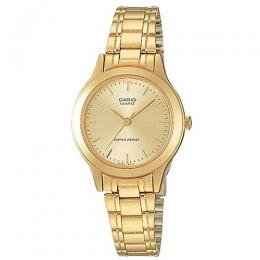 CASIO LTP-1128N-9ARDF WOMEN'S GOLD ENTICER BRACELET SMALL WATCH