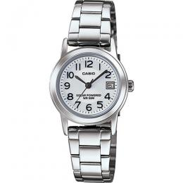 Casio LTPS100D-7BV Women's Solar Power Stainless Steel Small Size Watch