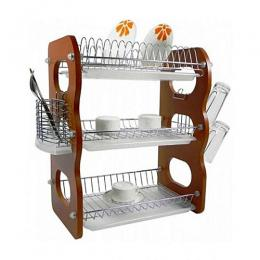 Marvel 3-Layer Wooden Plate Rack