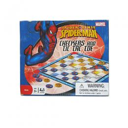 Marvel Amazing Spider-Man Checkers & Tic Tac Toe