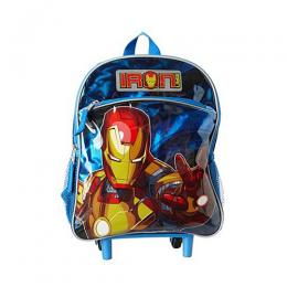Marvel Iron man 12 Inch Mini Rolling Backpack - Blue