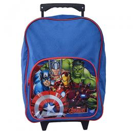 Marvel Avengers Trolley & Backpack School Bag For Boys- Blue And Red In Colour