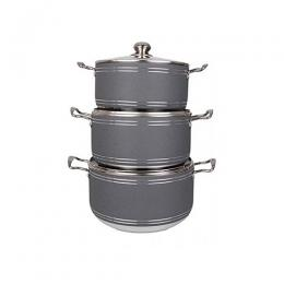 Master Chef Big Sized Non-Stick Pots 3 Sets
