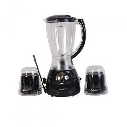 Master Chef Electric Blender With Mill- Black