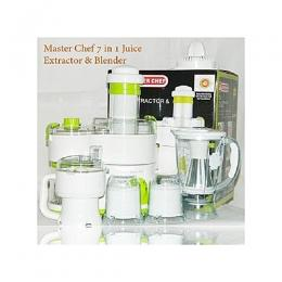 Master Chef Juice Extractor And Blender 7-in-1 Combo