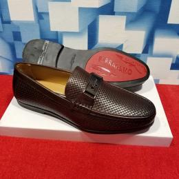 SALVATORE FERRAGAMO LUXURY CASUAL MEN'S LOAFERS|BROWN(AVAILABLE IN ALL SIZES)