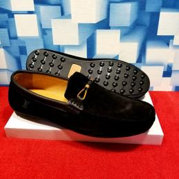 LOUIS VUITTON DESIGNER MEN'S CLASSY BLACK LOAFERS (AVAILABLE IN ALL SIZES) 242 HI