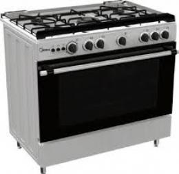Midea Gas Cooker 36LMG5G028-I with 5 Gas Burners 90 x 60