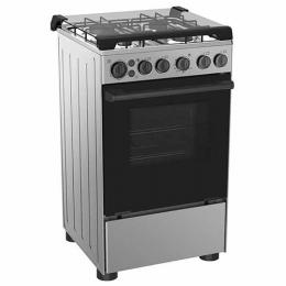 Midea 4-Burner Gas Cooker 20BMG4G007-W, with Oven & Grill (Black)