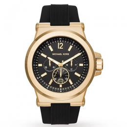 Michael Kors MK8445 Men's Dylan Chronograph Black Strap Watch