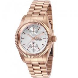 INVICTA 29448 WOMEN'S SPECIALTY SILVER DIAL ROSE GOLD MULTI-FUNCTION WATCH
