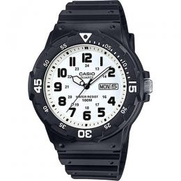 Casio MRW200H-7BV Men's Classic White Dial / Black Resin Band Dive Watch