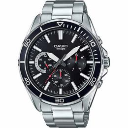 Casio MTD320D-1AV Men's Multifunction Black Dial Bracelet Large Size Watch