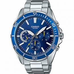 Casio MTD320D-2AV Men's Multifunction Blue Dial Bracelet Large Size Watch