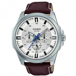 CASIO GENT'S MTP-SW310L-7AVDF ANALOG MULTI DIAL BROWN LEATHER WATCH