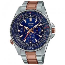 CASIO MTP-SW320RG-2AVDF MEN'S ENTICER BLUE DIAL TWO-TONE BRACELET WATCH