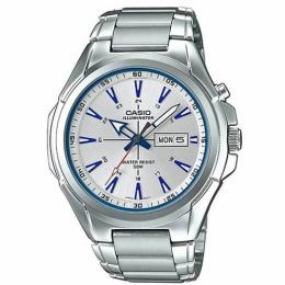 CASIO MTPE200D-7A2V MEN'S ENTICER ANALOG STAINLESS STEEL SILVER DIAL ILLUMINATOR WATCH
