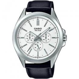CASIO MTPSW300L-7AV MEN'S ANALOG MULTIFUNCTION LEATHER WATCH