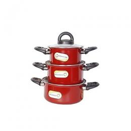 Ultimate Ash Non-Stick Pot Set- 6 Pieces- Multicolour