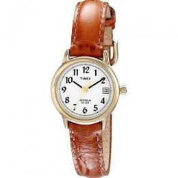 TIMEX T2J761 WOMEN'S EASY READER INDIGLO BROWN LEATHER SMALL WATCH