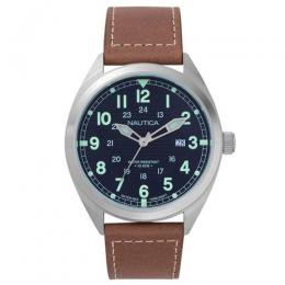 NAUTICA NAPBTP002 MEN'S BATTERY PARK 3-HAND BROWN WATCH