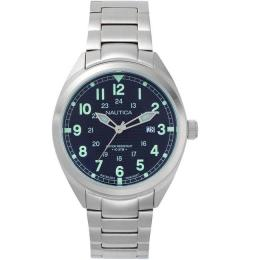 NAUTICA NAPBTP004 MEN'S BATTERY PARK STAINLESS STEEL BRACELET WATCH