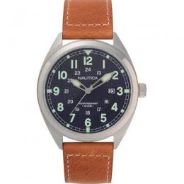 NAUTICA NAPBTP008 MEN'S BROWN LEATHER SET WATCH