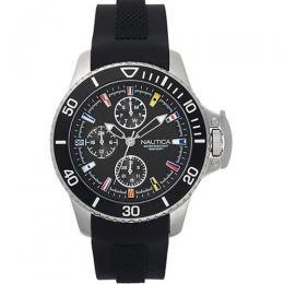 NAUTICA NAPBYS001 MEN'S BAYSIDE MULTIFUNCTION SILICONE STRAP WATCH