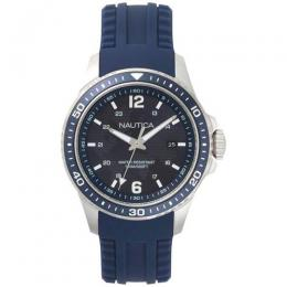 NAUTICA NAPFRB002 MEN'S FREEBOARD SPORT BLUE SILICONE BAND WATCH