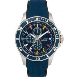 NAUTICA NAPFRB016 MEN'S FREEBOARD MULTIFUNCTION BLUE SILICONE WATCH