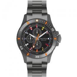 NAUTICA NAPFRB019 MEN'S FREEBOARD GUNMETAL STAINLESS-STEEL WATCH