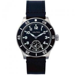 NAUTICA NAPHST002 MEN' S HOUSTON JAPANESE-QUARTZ LEATHER WATCH