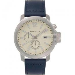 NAUTICA NAPSYD014 MEN'S SYDNEY CHRONOGRAPH BLUE LEATHER WATCH